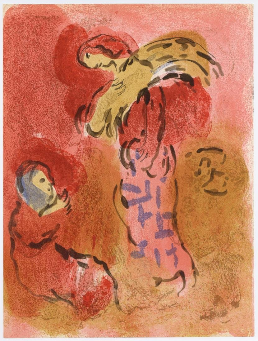 """Marc Chagall """"Ruth Gleaning"""" original Bible lithograph"""