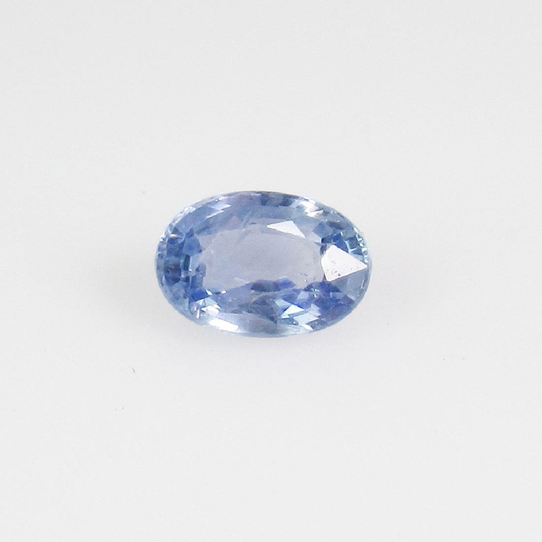 0.62 Ctw Natural Blue Sapphire 6X4 mm Oval Cut