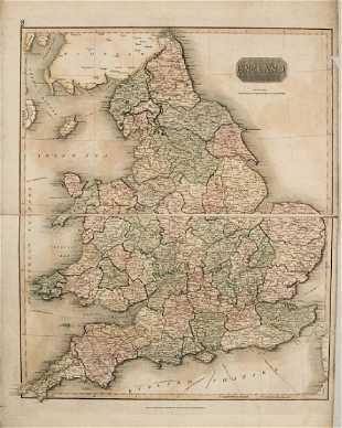 Kitchin: Antique Map of Durham England, 1760 on