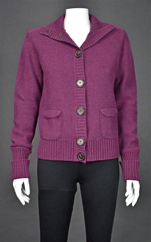 58e2185deae AKRIS PUNTO Raspberry Pink Wool & Cashmere Cardigan - Jun 09, 2019 ...