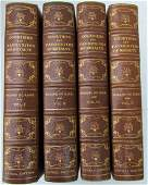 4 ANTIQUE VOLUMES DECORATIVE BINDING FRENCH ROYALTY