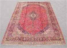 Hand Woven Semi Antique Persian Mashhad 13.7x9.8