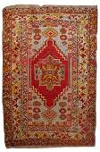 Handmade antique Turkish Anatolian rug 3.5' x 5.2' (
