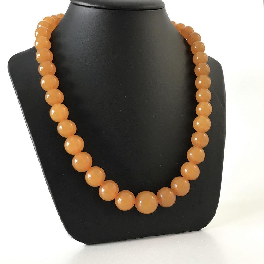 Old Baltic amber necklace big beads