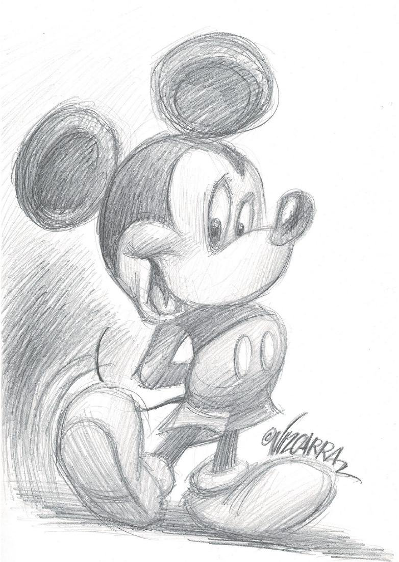 Vizcarra mickey mouse original pencil sketch 2 jun 12 2019
