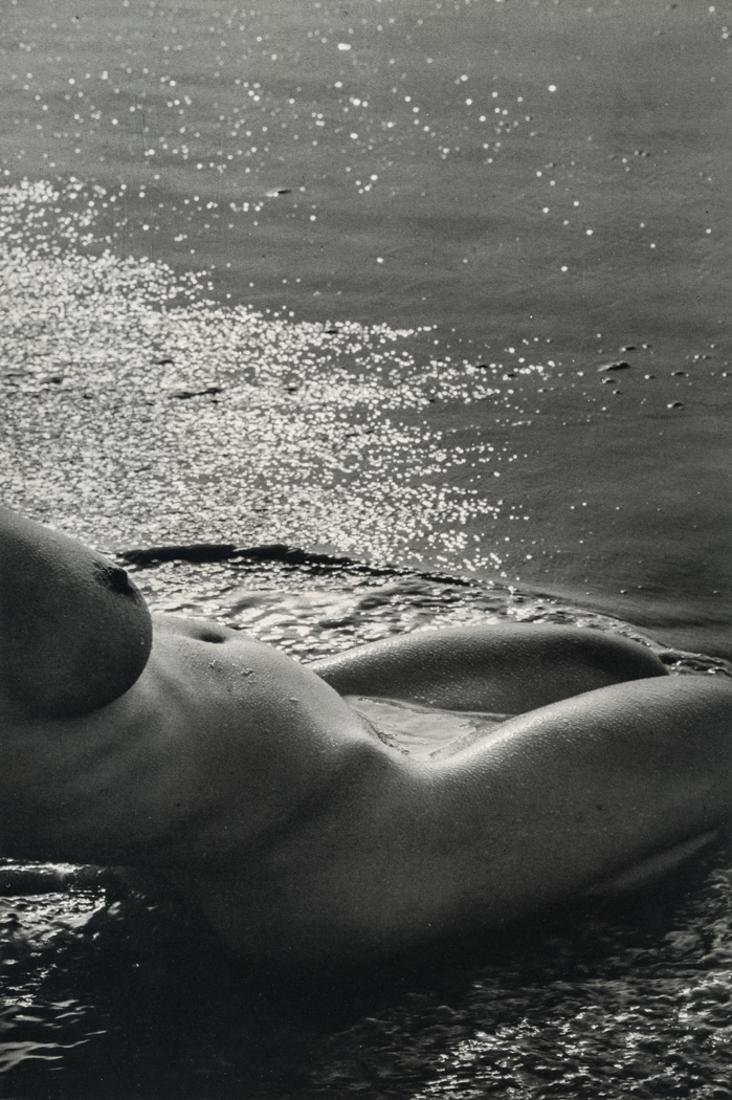LUCIEN CLERGUE - Nude at Shore, 1971