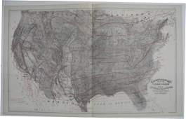 Climatological Map of the United States Showing Average