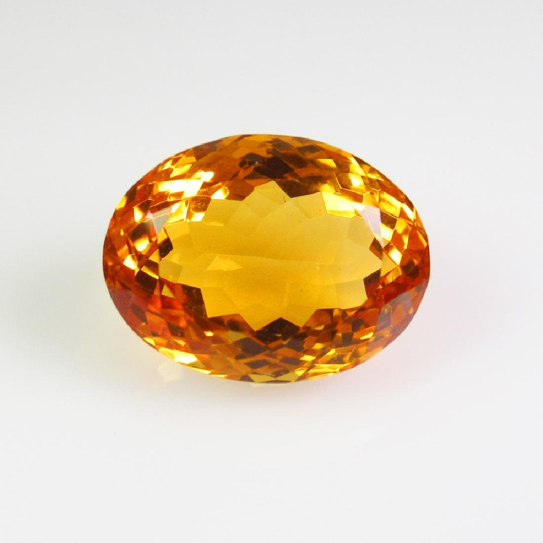 9.45 Ct Genuine Madeira Brandy Yellow Citrine Oval Cut