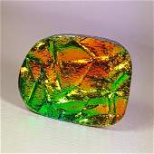 555 ct Mexican Fire Opal Doublet