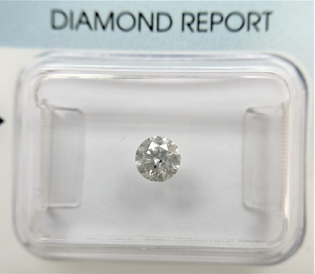 0.32 ct Round diamond H I3, IGI Certified