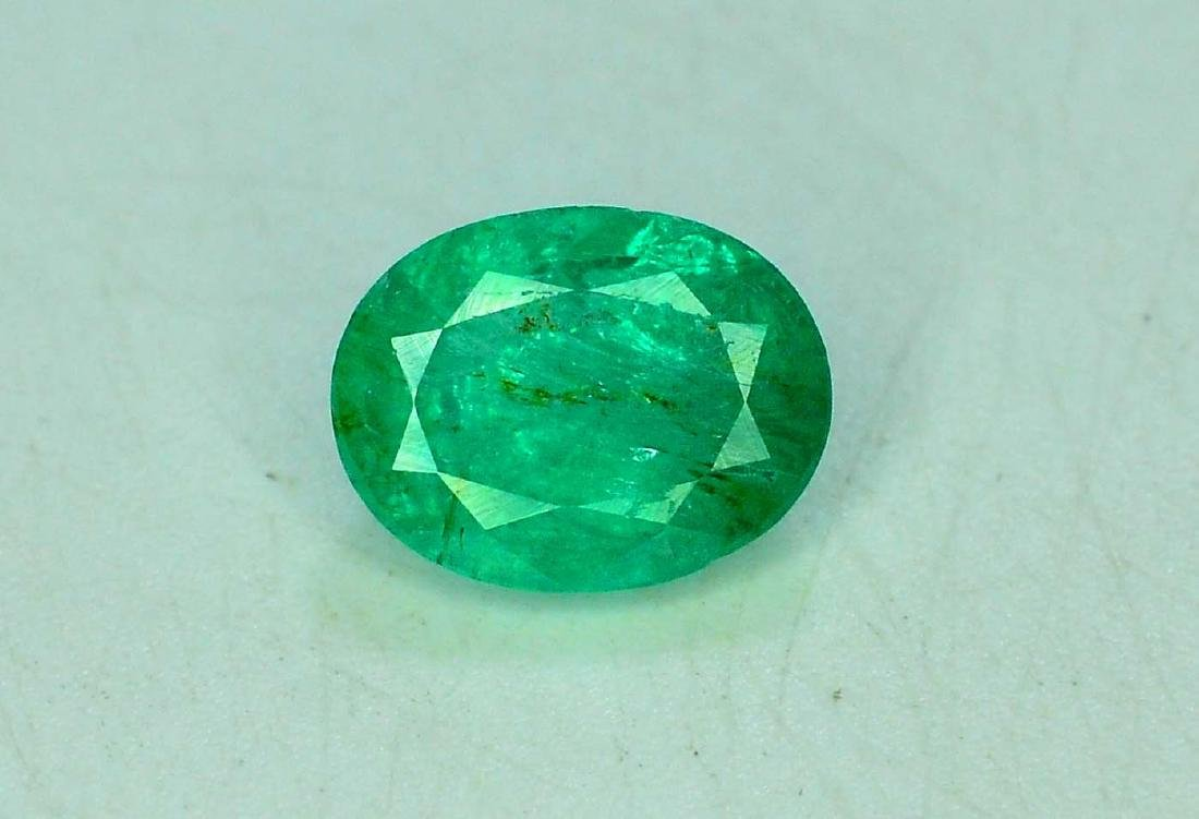 1.85 cts Stunning OVAL Cut Zambian Emerald Gemstone ~