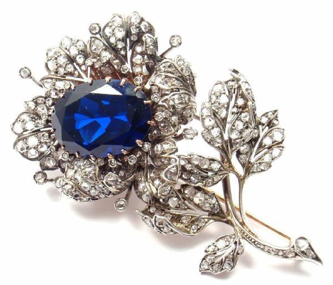 Rare! Antique Victorian 14k Rose Gold & Silver Diamond