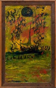 Outsider Art Purvis Young: Boat to Freedom
