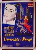 FUNNY FACE - ORIGINAL 1957 ITALIAN 1P LB POSTER -