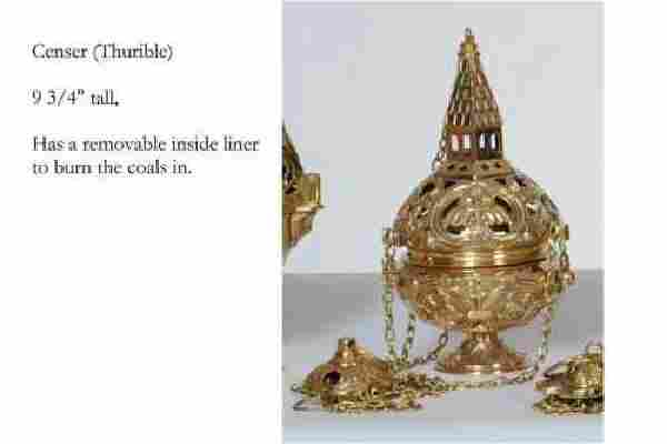 Nice Traditional Church Censer (Thurible) + + chalice