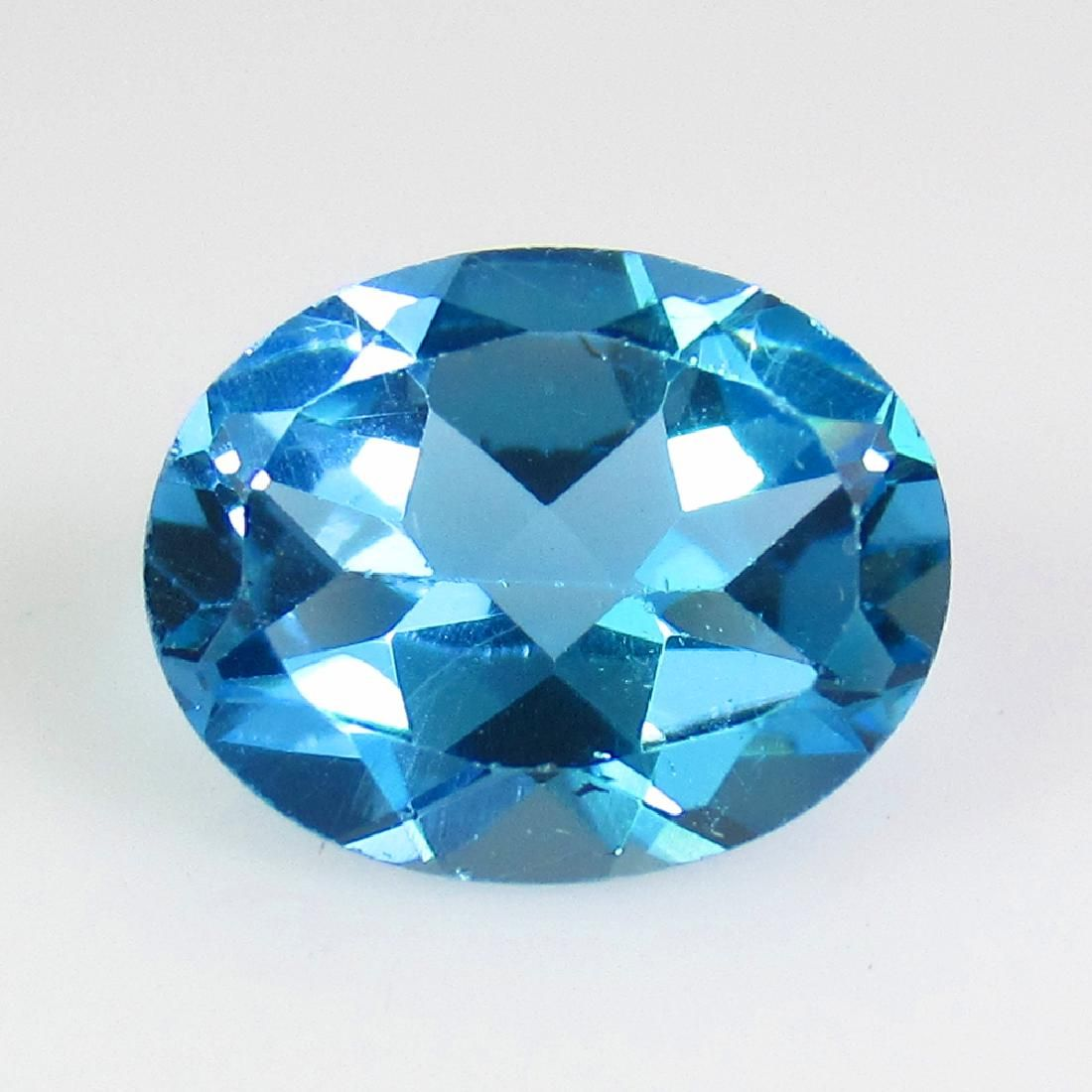 3.15 Ct Genuine Swiss Blue Topaz 10X8 mm Oval Cut