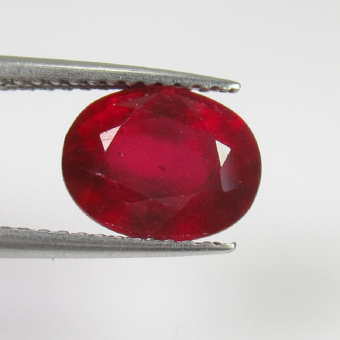5.71 Ct Genuine Mozambique Pinkish Red Ruby 12X10 mm