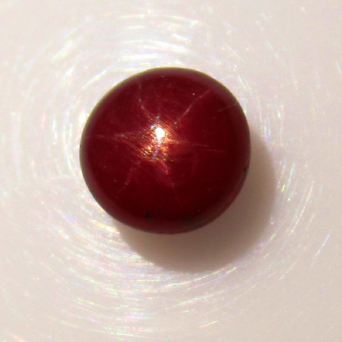 2.38 Ct Genuine Six Line Red Star Ruby 6.5 m Round Cab