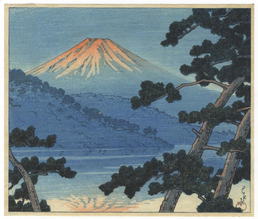 Kawase Hasui (1883-1957): Mount Fuji from Lake Shoji