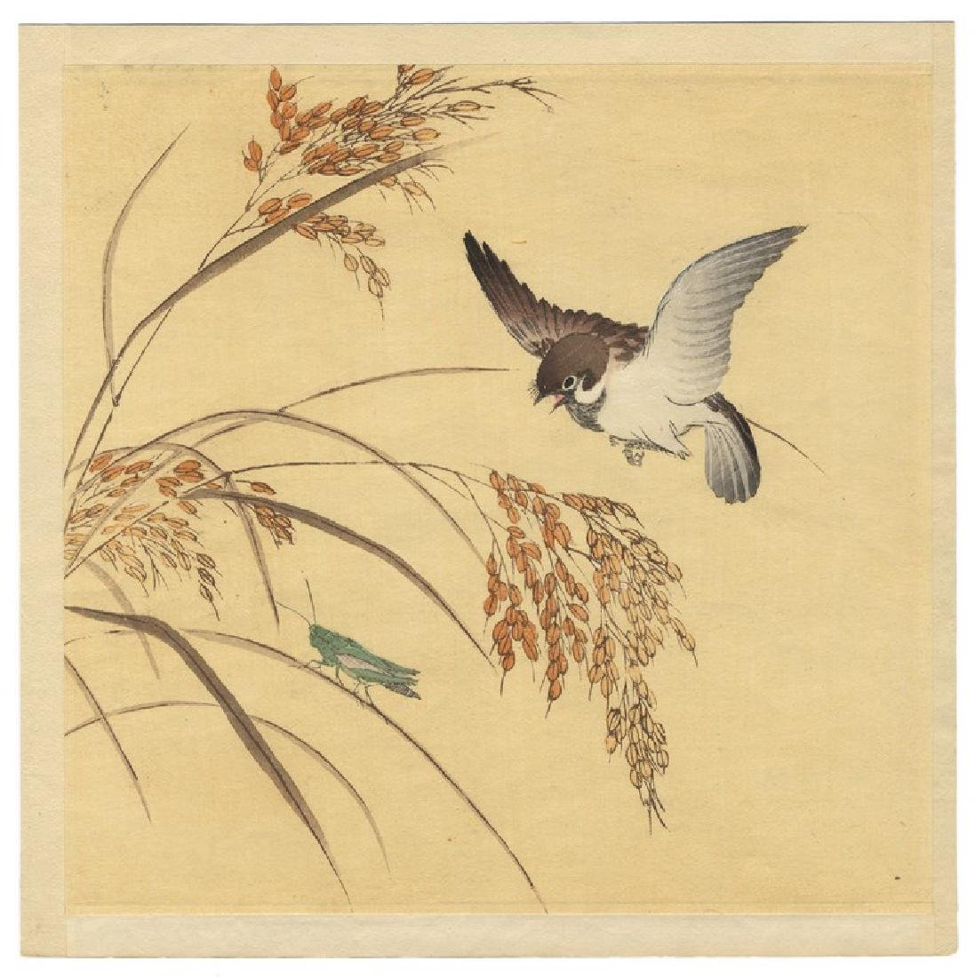 Unspecified: Sparrow and Grasshopper