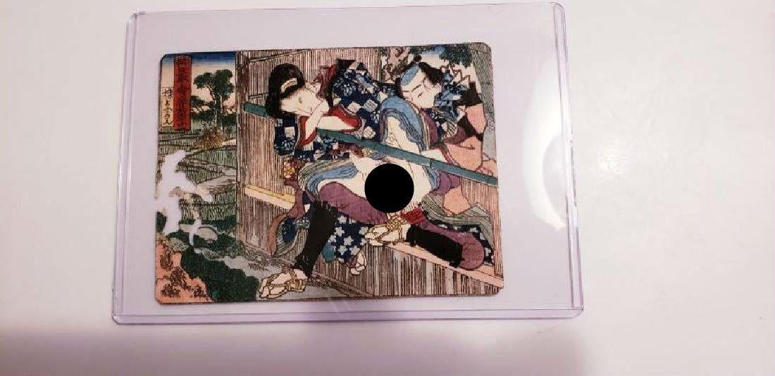 Antique Japanese erotic Shunga woodblock print best