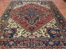 Semi Antique Persian Square Heriz Rug4494