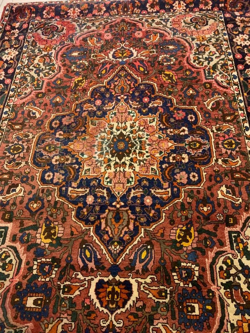 Semi Antique Hand Woven Persian Rug Heriz 8.10x7