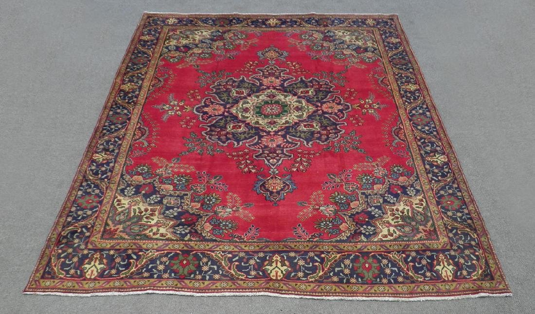 Sensational Semi Antique Persian Sabzevar 11.8x9.9