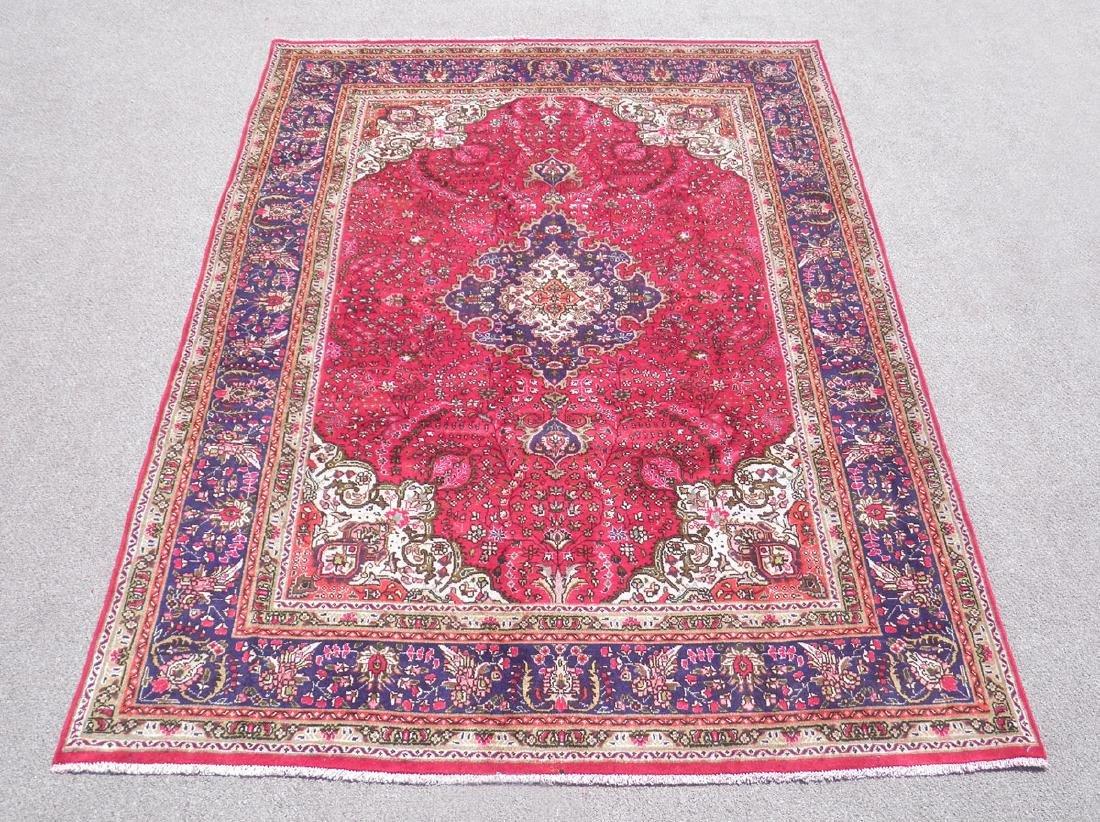 Hand Woven Semi Antique Persian Tabriz 6.4x9.8