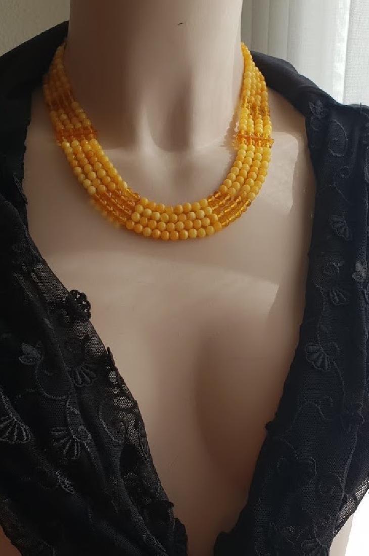 Necklace & Bracelet Natural Baltic Amber Sterling