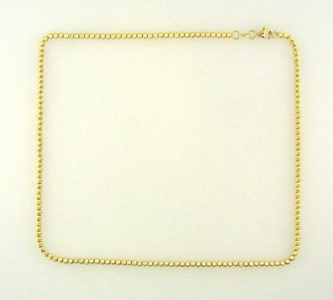 CHIC 18k Yellow Gold Ball Chain Necklace Italy