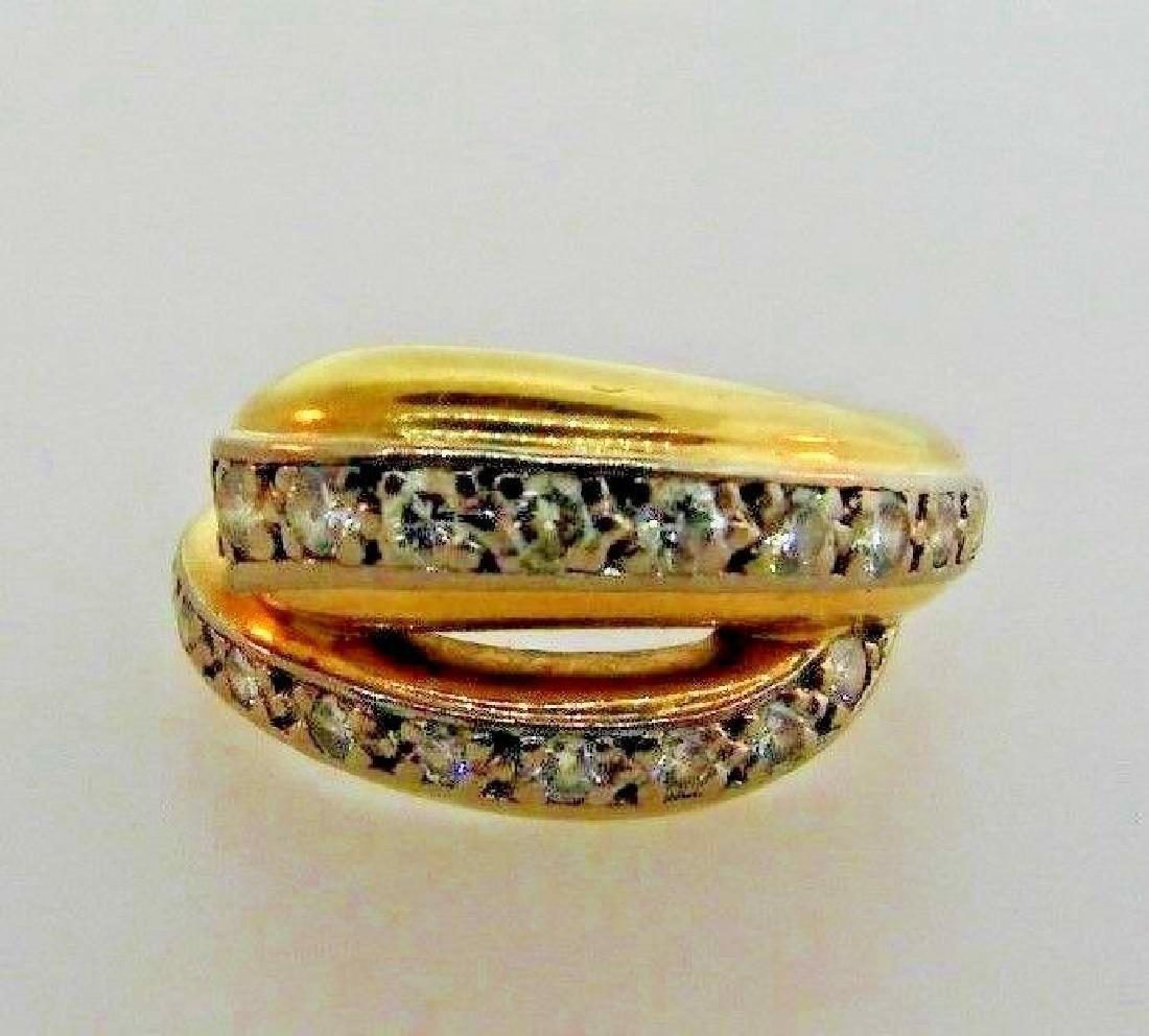 VINTAGE Cartier 750 & Diamond Ring Circa 1980s