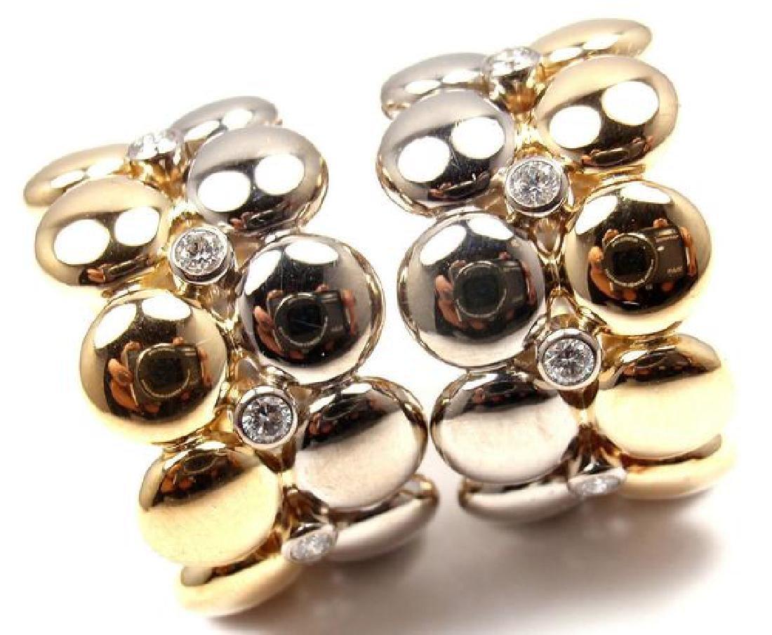 Rare! Authentic Cartier 18k White & Yellow Gold Diamond