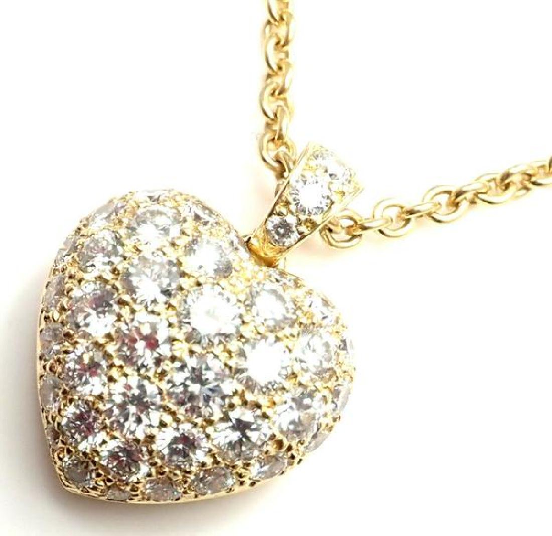 Authentic! Cartier 18k Yellow Gold Diamond Large Heart