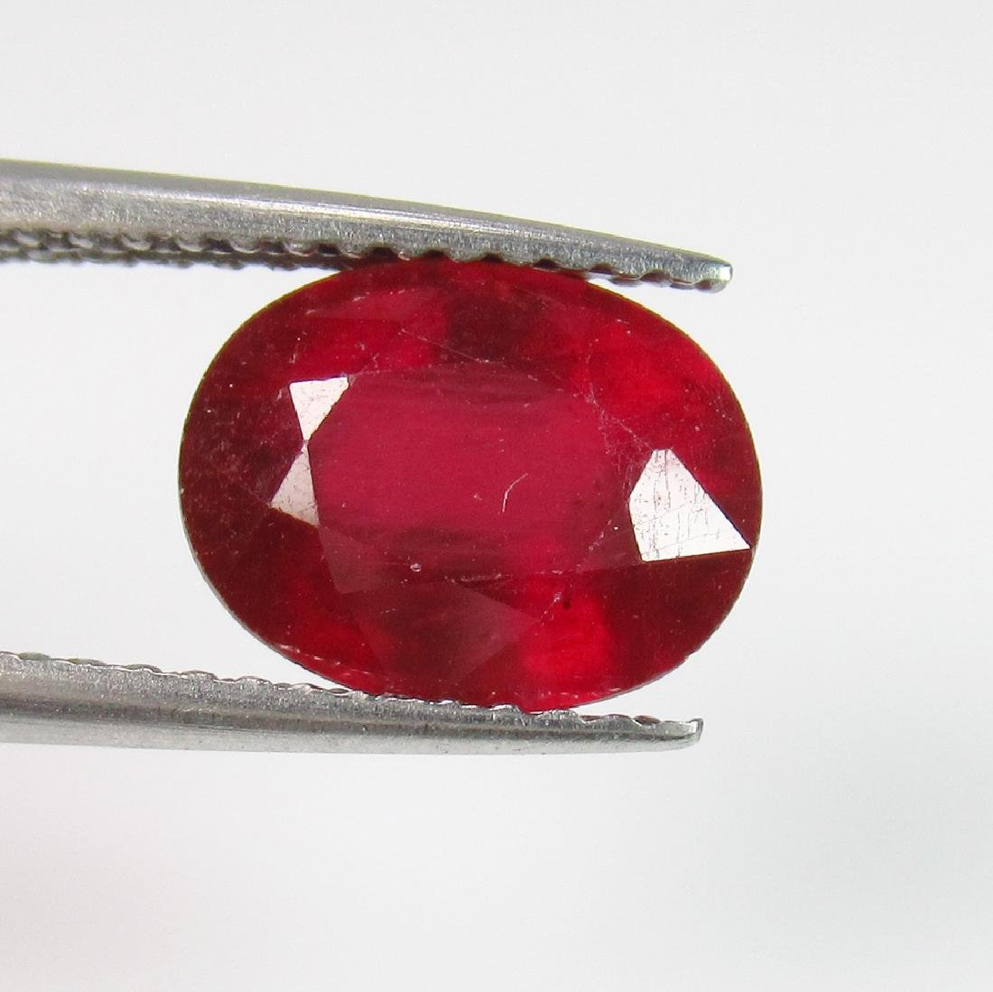 2.92 Ct Genuine Mozambique Red Ruby Oval Cut