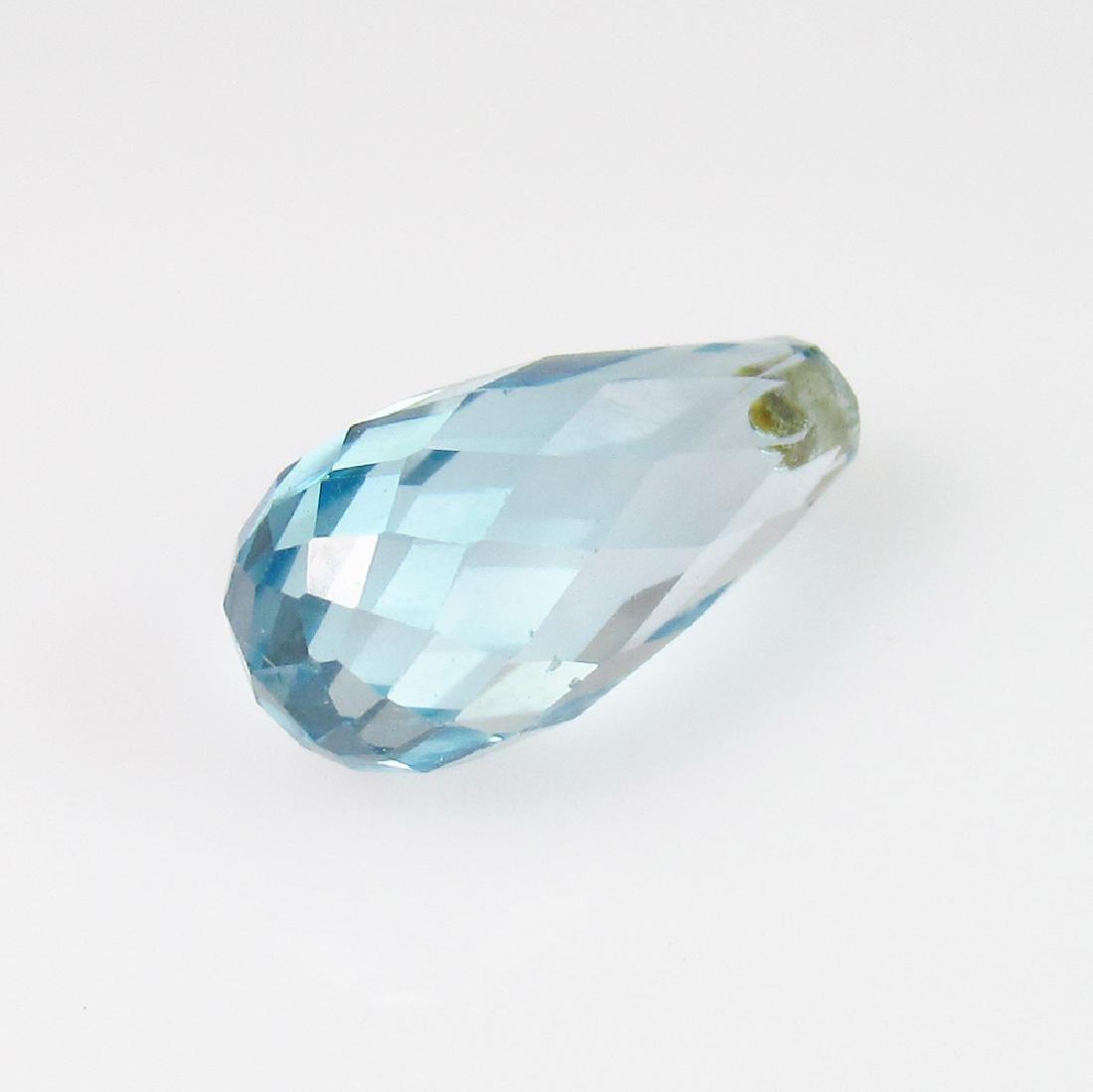 4.02 Ct Genuine Blue Topaz Pear Drop Drilled