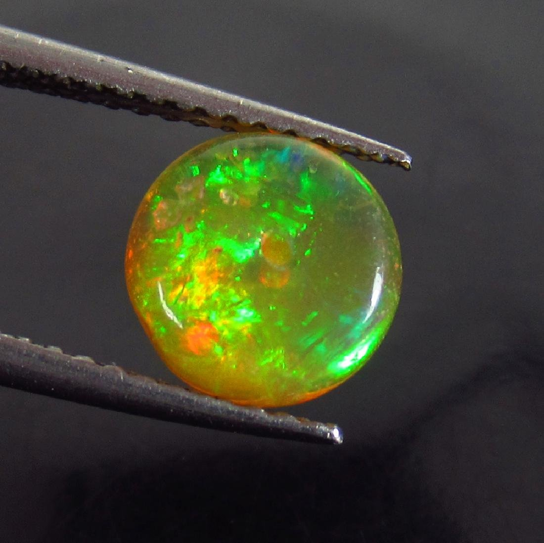 1.08 Ctw Natural Multi-Color Fire Opal Round Beads