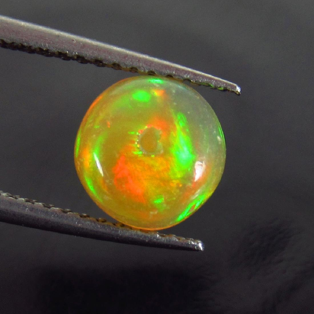 1.10 Ctw Natural Multi-Color Fire Opal Round Beads