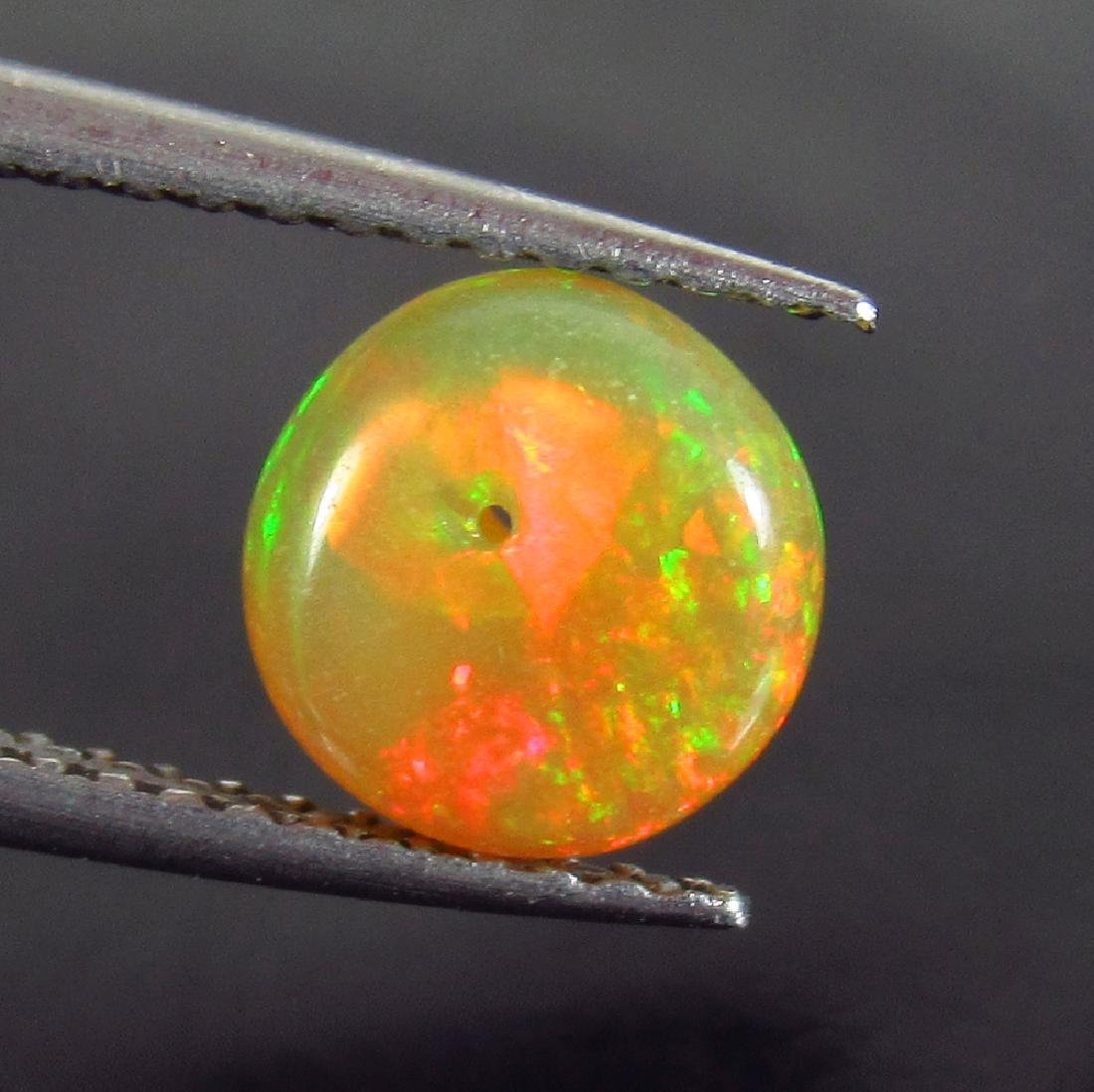 1.07 Ctw Natural Multi-Color Fire Opal Round Beads