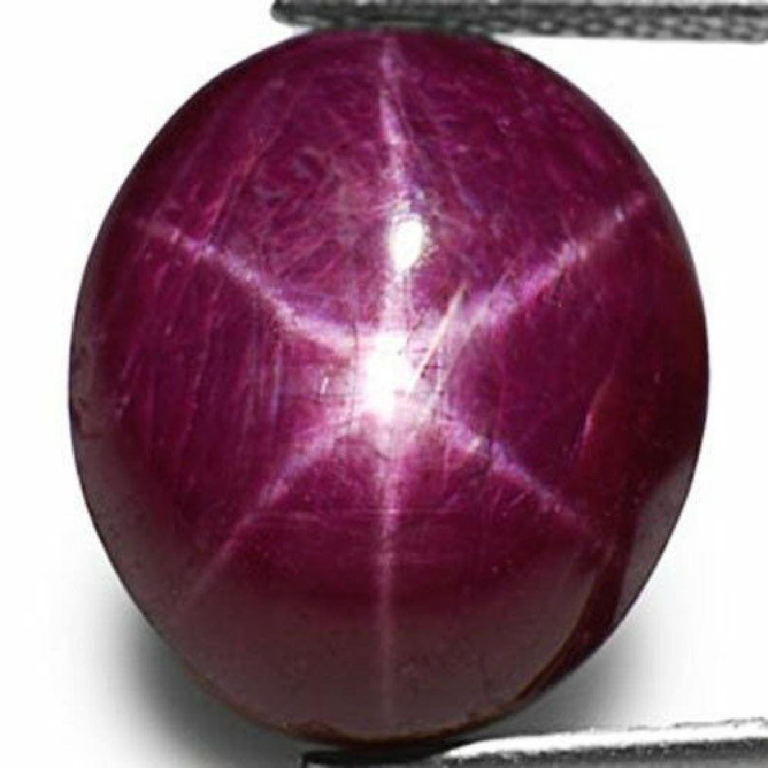 12.94-Carat Natural & Untreated 6-Ray Star Ruby from