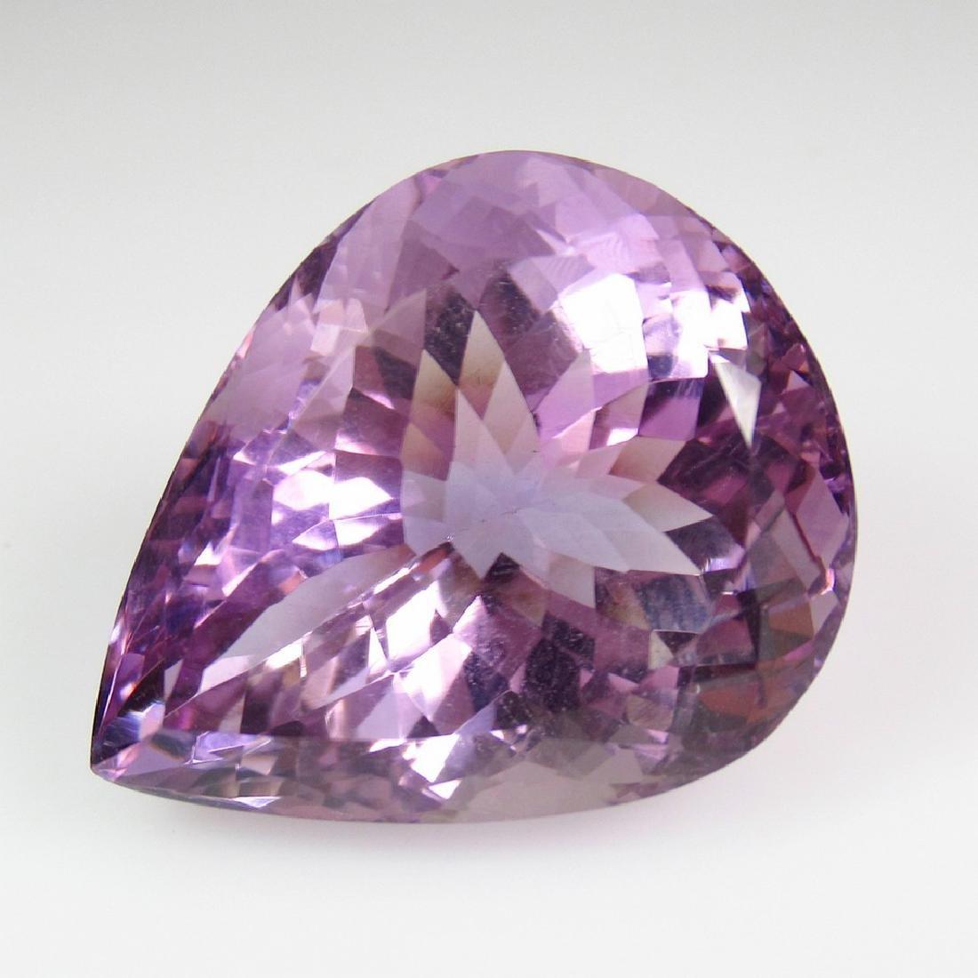 30.32 Ct Genuine Purple Amethyst 24X19 mm Pear Cut