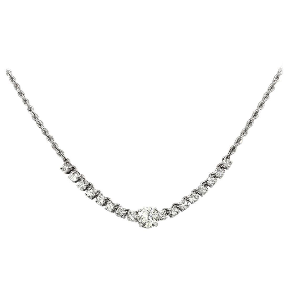 18 Karat Vintage Diamond Necklace