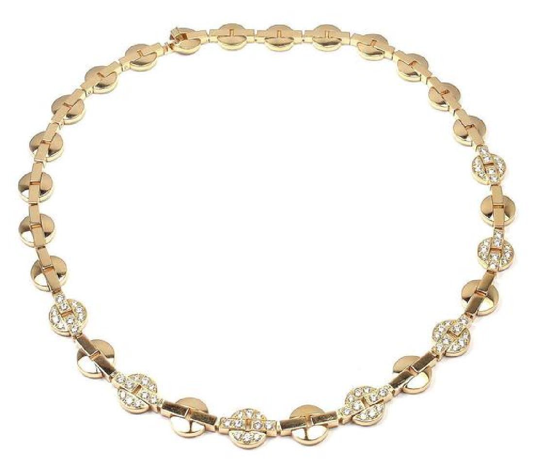 Authentic! Cartier Himalia 18k Yellow Gold Diamond