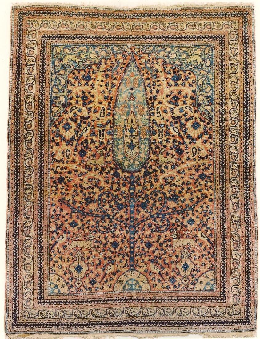 Pictorial Paradise Tabriz Rug