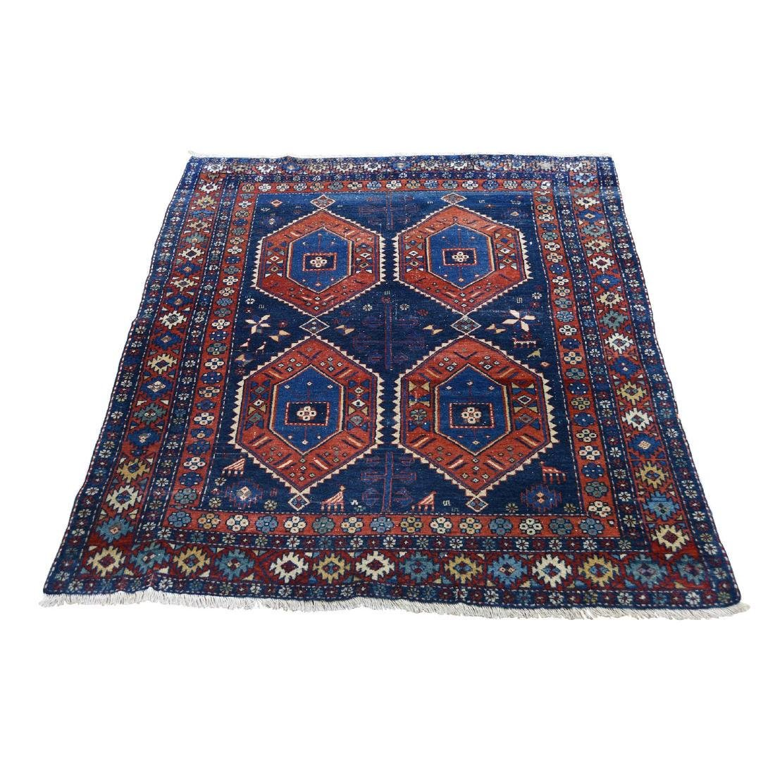 Navy Antique Persian Ardabil Clean Even Wear Pure Wool