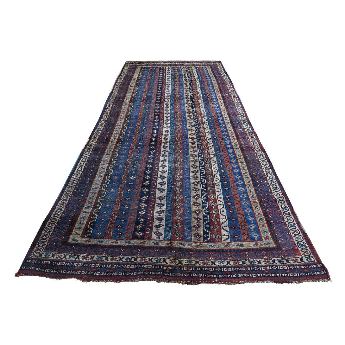 Antique Persian Tribal Lori Buft With Shawl Design Wide