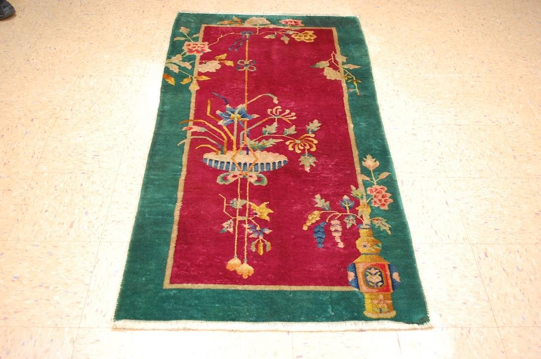 c1920s ANTIQUE MINT ART DECO CHINESE WALTER NICHOLS RUG
