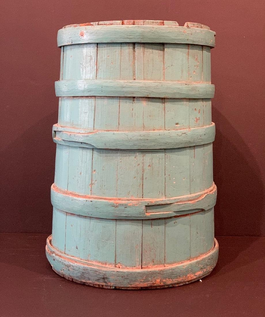 19th c New England Firkin in Old Color