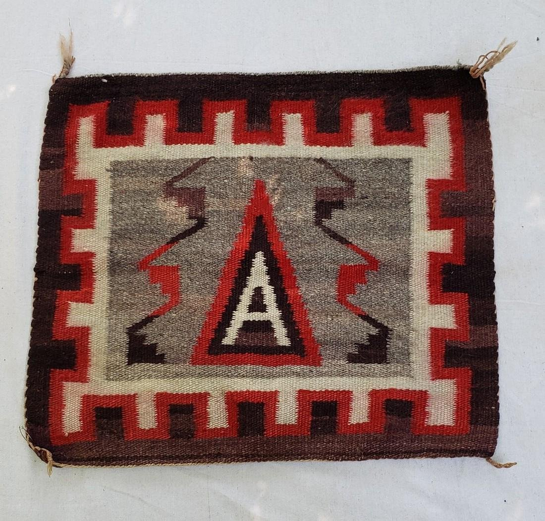 """Navajo Figurative """"A"""" Small Rug - Childs Saddle Blanket"""