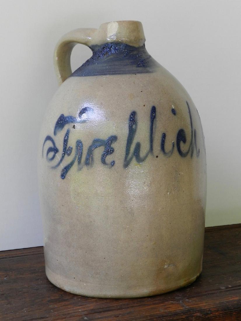 Froehlich Bros. Advertising Stoneware Jug